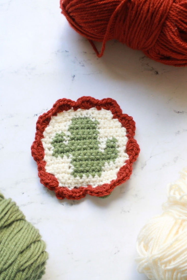 Tapestry Crochet Cactus Coasters Eclaire Makery
