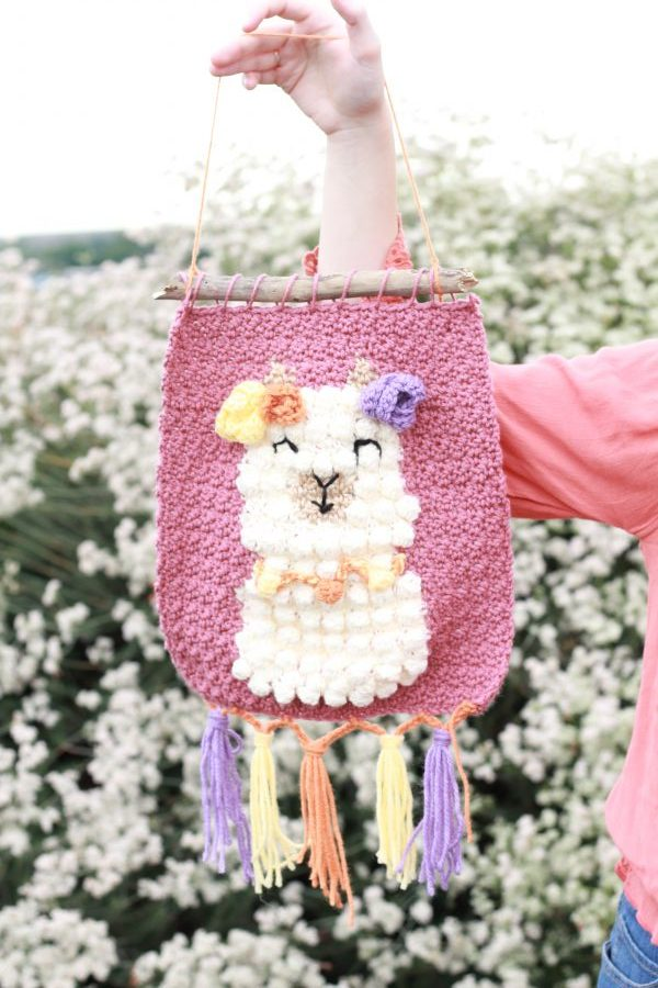 Llama Wall Hanging by E'Claire Makery