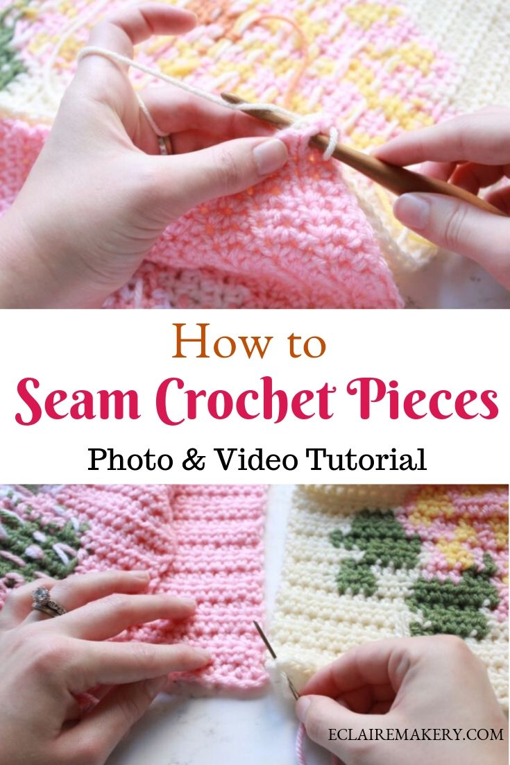 4 Ways To Join Crochet Pieces Together E Claire Makery